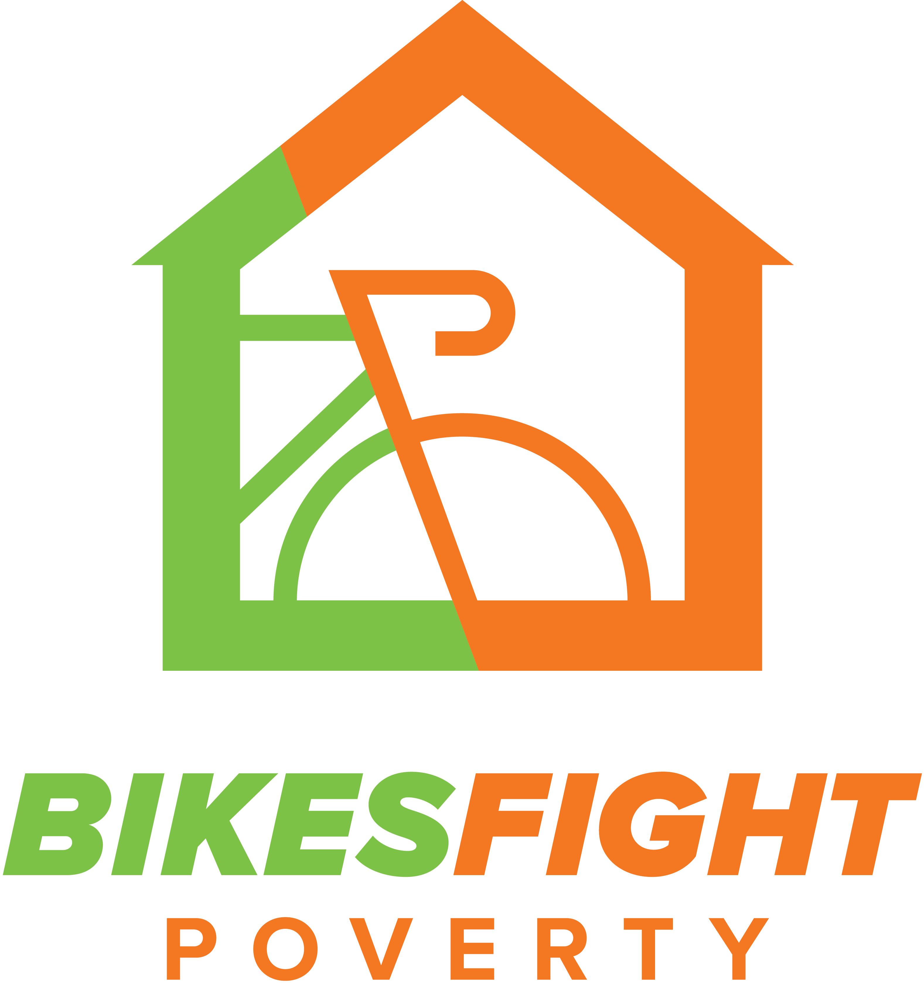 Bikes Fight Poverty Logo Centered